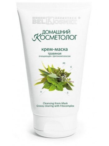 крем-маска травяная очищающая с фитокомплексом Домашний косметолог 100