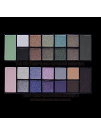 Набор теней Color Palette Eyeshadow, 12 цветные/CTE12, тон 04 Сине-фиолетовая палитра с шоколадными оттенками