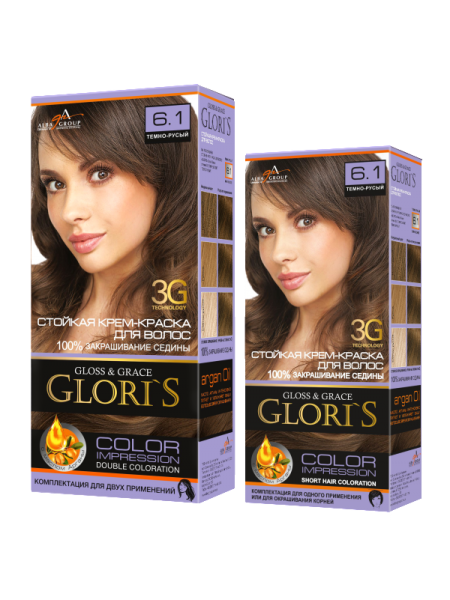 Тёмно-русый 6.1 Gloris для двух применений (ГЛОРИС-2)