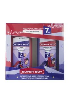 SUPER BOY ПОДАРОЧНЫЙ НАБОР (Шампунь д/ вол. д/мальчиков с 7 лет,275мл.+Гель д/душа 275мл.)