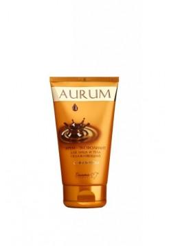 """Крем-эксфолиант для лица и тела увлажняющий с золотом серии """"Aurum"""" 145 г"""