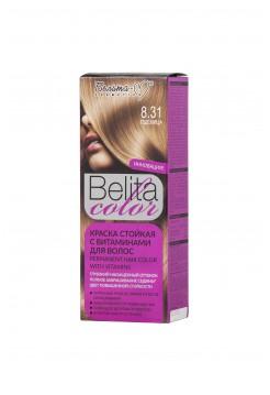 Стойкая краска для волос Б-КОЛОР (комплект) - 16 шт./БЕЛ-М Белита-колор/ Комплект Краска ПШЕНИЦА № 8.31 - 16 шт.