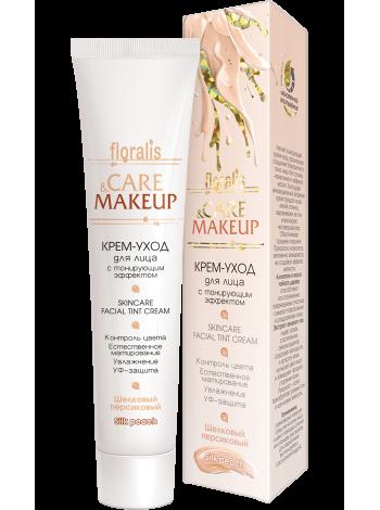 Крем-уход для лица с тонирующим эффектом Шелковый персиковый 40г Сare & Makeup