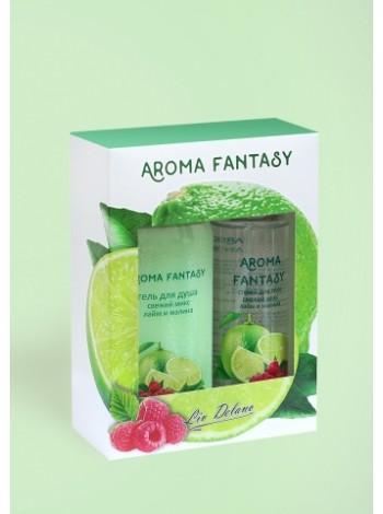 "Aroma Fantasy Подар.наб./спрей д/тела+гель д/душ ""Свеж.микс, лайм, малина"""