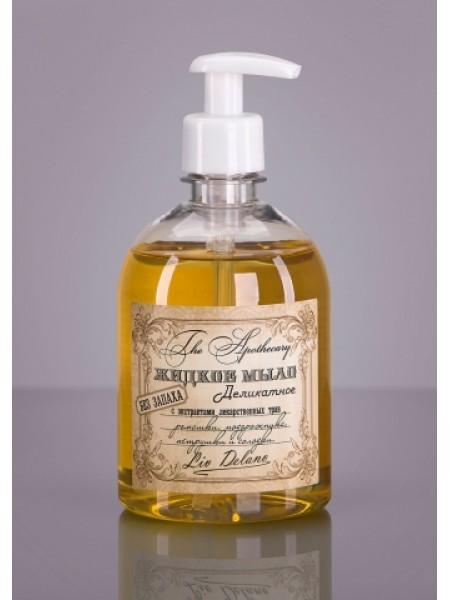Жидкое мыло деликатное без запаха с экстрактами лекарственных трав ромашки, подорожника, петрушки и солодки, 480г The Apothecary