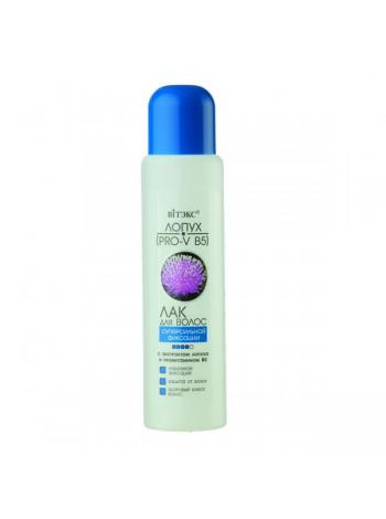 ЛАК для волос СуперСильной фиксации с экстрактом лопуха и провитамином В5, 500мл.