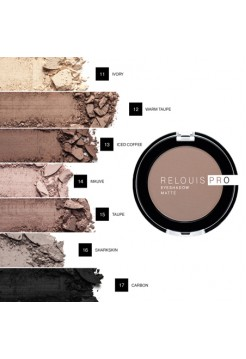 "Тени для век ""RELOUIS PRO EYESHADOW MATTE"" тон:13 ,:ICED COFFEE"