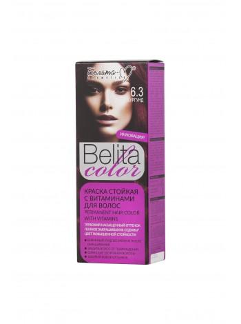 Стойкая краска для волос Б-КОЛОР (комплект) - 16 шт./БЕЛ-М Белита-колор/ Комплект Краска БУРГУНД № 6.3 - 16 шт.