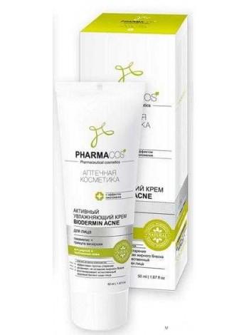 "PHARMACos Активный увлажняющий крем для лица ""Biodermin Acne"", 50мл."