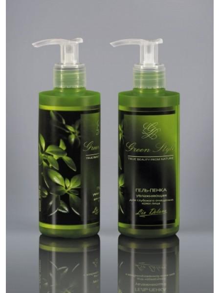 Гель-пенка увлаж. для глуб. очист. лица, 190 г.-18шт Green Style