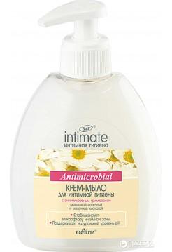 Крем-мыло для интимной гигиены с антимикробным триклозаном (300 мл Интимн.)