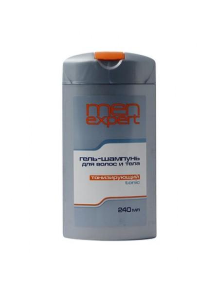 Гель-шампунь для волос и тела, тонизирующий, 240 мл MenExpert