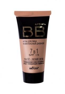 ВВ Крем для лица комплексный дневной 7 в 1 SPF 15 тон 02 (туба 30 мл BB cream)