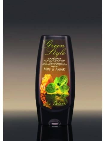 """Бальзам-кондиционер """"Мята&Ананас"""" для нормальных и склонных к жирности волос, 200 г Green Style"""