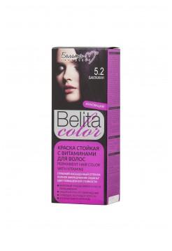 Стойкая краска для волос Б-КОЛОР (комплект) - 16 шт./БЕЛ-М Белита-колор/ Комплект Краска БАКЛАЖАН № 5.2 -16 шт.