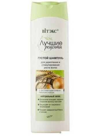 ЛУЧШИЕ РЕЦЕПТЫ Густой шампунь для укрепления и стимулирования роста волос,470мл.