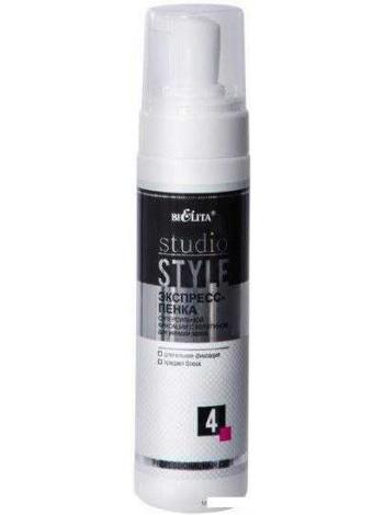 Экспресс-пенка суперсильной фиксации с кератином д/укл. волос (220 мл ПЛ Studio Style)
