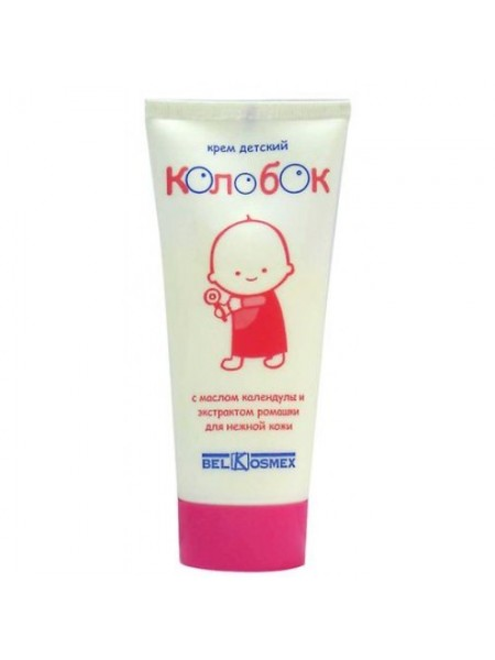 крем детский Колобок с маслом календулы и экстрактом ромашки для нежной кожи 80