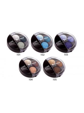 Тени Velour effect 3-х цветные 2 гр. Тон 101