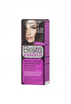 Стойкая краска для волос Б-КОЛОР (комплект) - 16 шт./БЕЛ-М Белита-колор/ Комплект Краска КОРИЧНЕВЫЙ № 5.35 - 16 шт.