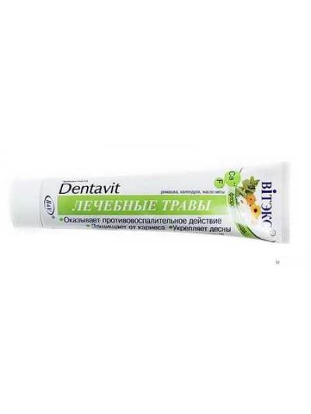 "Зубная паста фторосодерж."" Dentavit "" Лечебные травы 160г."