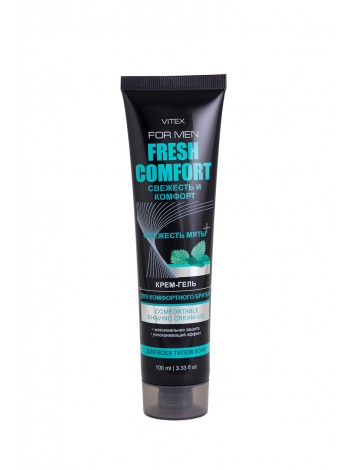 VITEX FOR MEN FRESH COMFORT КРЕМ-ГЕЛЬ для комфортного бритья, 100мл.