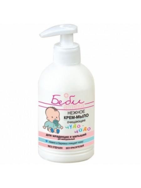 БЕБИ аптека чудо-чадо Нежное крем-мыло очищающее для младенцев и малышей, 300мл.