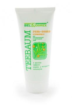 гель-пенка очищающая для чувствительной и проблемной кожи с маслом чайного дерева и экстрактом календулы Teebaum 80