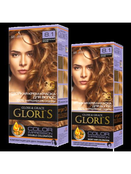 Карамельный блонд 8.1 Gloris для двух применений (ГЛОРИС-2)