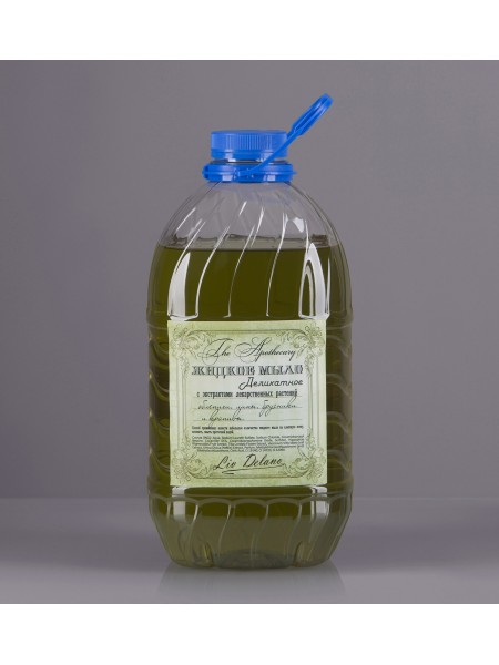 Жидкое мыло деликатное с экстрактами лекарственных растений облепихи, липы, брусники и крапивы, 3 кг The Apothecary