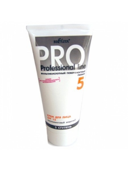 (Мультикисл.пилинг) Крем для лица SPF15 постпилинговый защитный 200 мл (туба) ПЛ