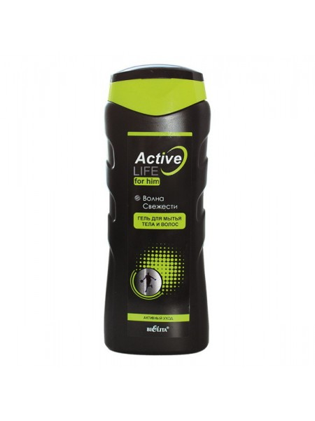 Гель для мытья тела и волос ВОЛНА СВЕЖЕСТИ (250 мл ACTIVE LIFE для мужчин)