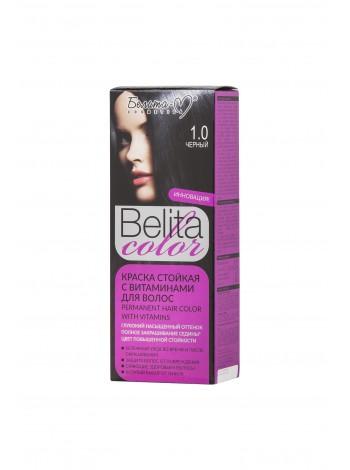 Стойкая краска для волос Б-КОЛОР (комплект) - 16 шт./БЕЛ-М Белита-колор/ Комплект Краска ЧЕРНЫЙ № 1.0 - 16 шт.