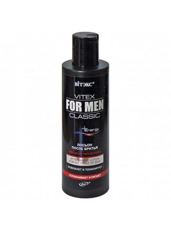 VITEX FOR MEN CLASSIC Лосьон после бритья д/всех типов кожи,200мл. New
