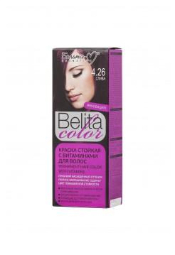 Стойкая краска для волос Б-КОЛОР (комплект) - 16 шт./БЕЛ-М Белита-колор/ Комплект Краска СЛИВА № 4.26 - 16 шт.