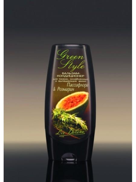 """Бальзам-кондиционер """"Пассифлора&Розмарин"""" для тонких, ослабленных и выпадающих волос, 200г Green Style"""