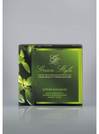 Крем-баланс для жирной и комбинированной кожи лица (для любого возраста, ночной),45г Green Style