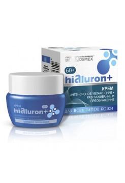 крем интенсивное увлажнение + разглаживание и преображение для всех типов кожи 60+ Hialuron+ 48г 48