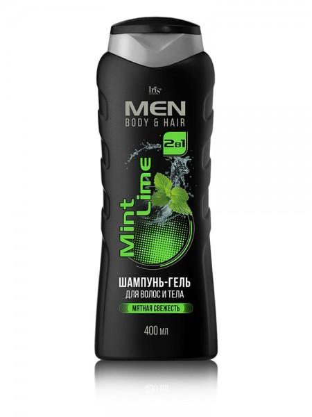"""MEN Шампунь-гель для волос и тела """"Mint Lime"""" 400/12"""